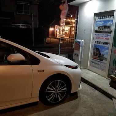 会社で車を充電=ECO?