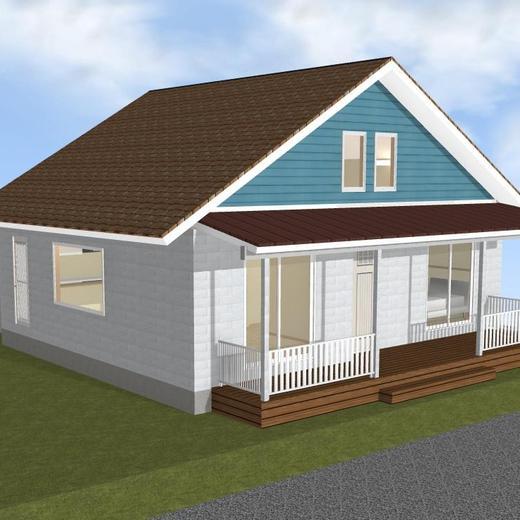 日本一海沿いにある木の平屋モデルハウス③